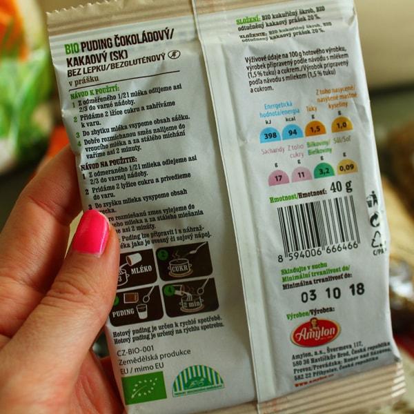 Bio puding bez lepku Amylon čokoládový