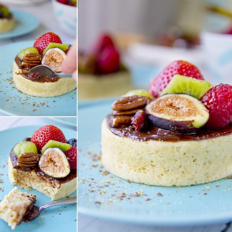 Zdravý jogurtový mugcake z mikrovlnné trouby - recept Bajola