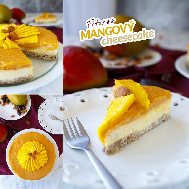Fit mangový cheesecake - recept Bajola