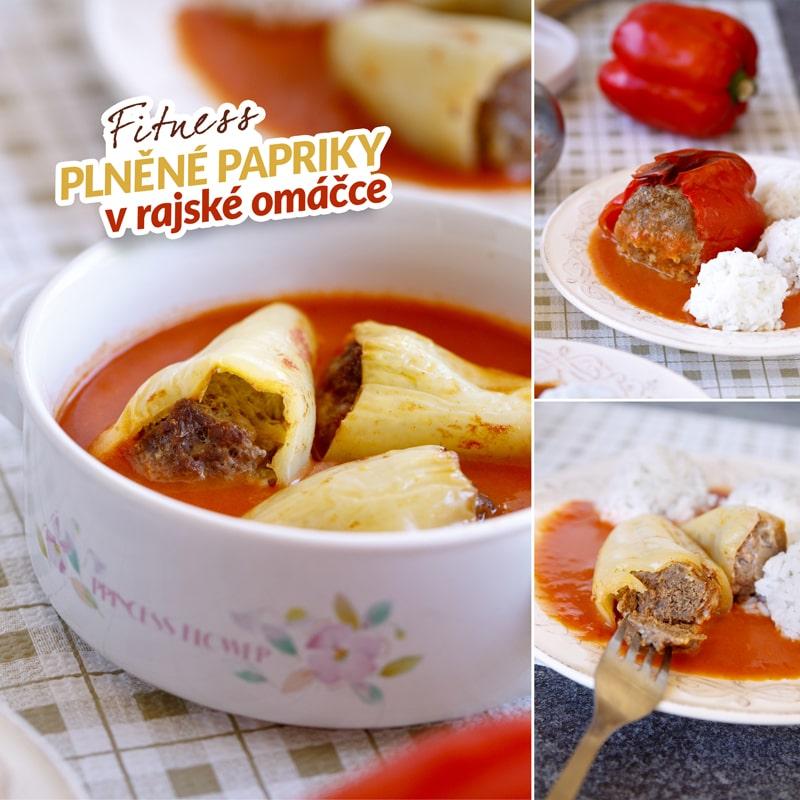 Fit plněné papriky a rajská omáčka - recept Bajola