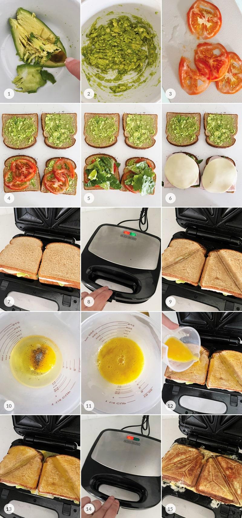 Fit toasty ve vejci foto postup