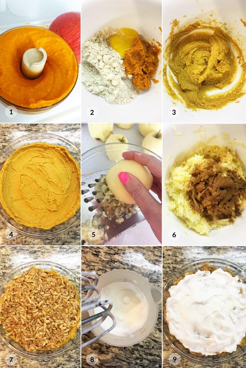Fitness hraběnčin koláč z jablek a dýně - postup receptu