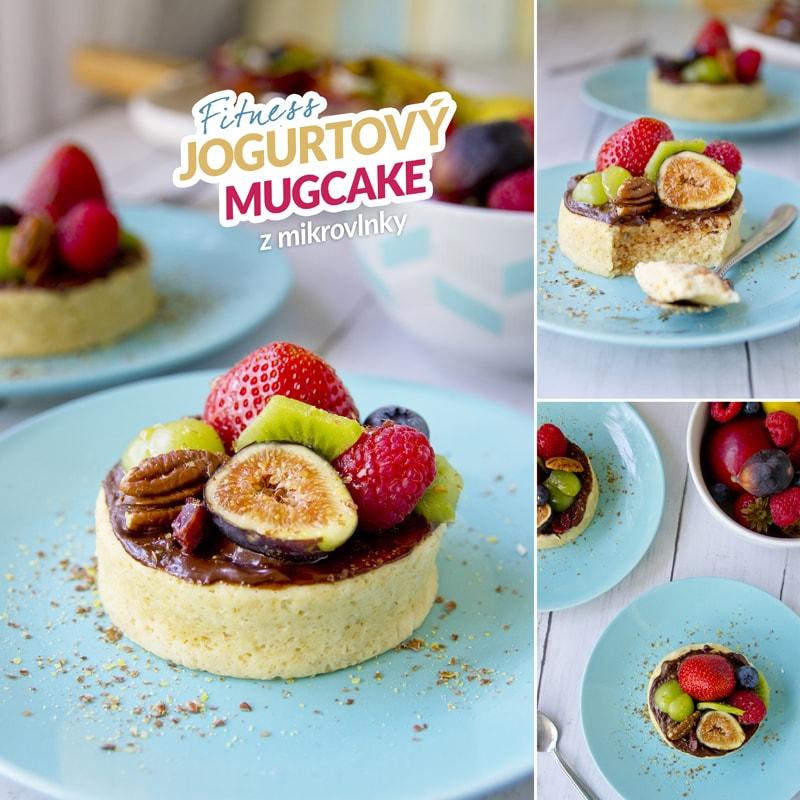 Fitness jogurtový mugcake mikrovlnka - recept Bajola