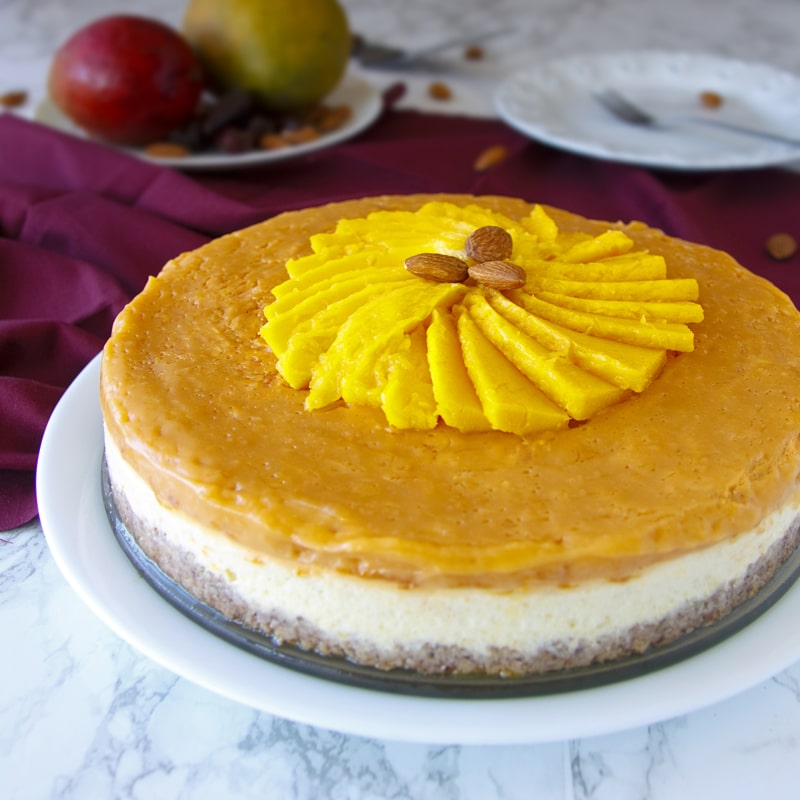 Fitness mangový cheesecake - zdravý recept Bajola