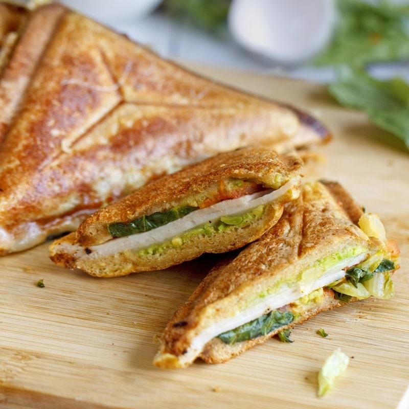 Fitness toasty ve vaječném županu - recept Bajola
