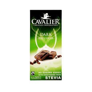 Hořká čokoláda Cavalier 85% bez cukru se stévií