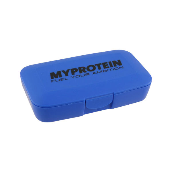 Krabička na tablety a vitamíny MyProtein modrá