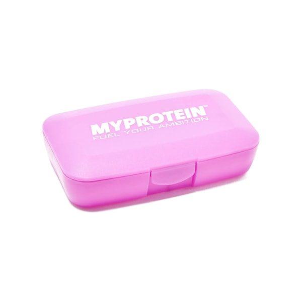 Krabička na tablety a vitamíny MyProtein růžová