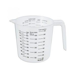 Kuchyňská plastová odměrka se stupnicí 1 litr