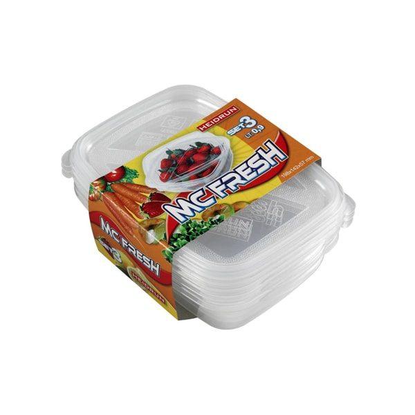 Fitness plastové krabičky na jídlo obdélníkové