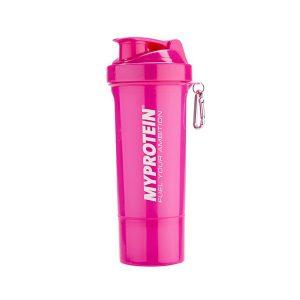 Růžový shaker MyProtein 500 ml s odnímatelným spodkem