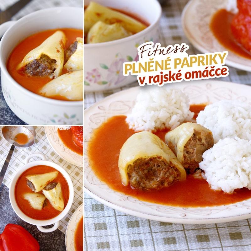 Zdravé plněné papriky a rajská omáčka - recept Bajola