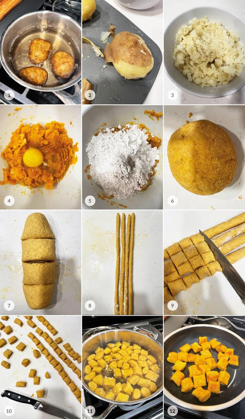 Dýňovo bramborové noky - foto postup