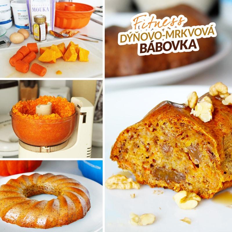 Zdravá dýňovo mrkvová bábovka - fit recept Bajola