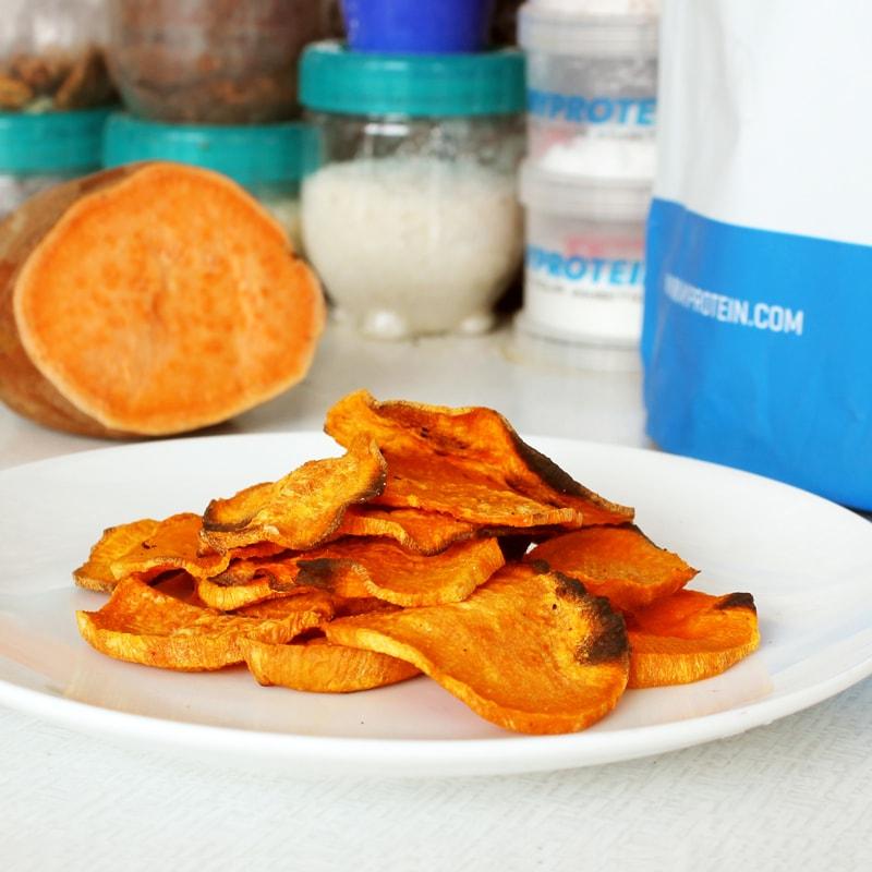 Fitness batátové chipsy - recept Bajola