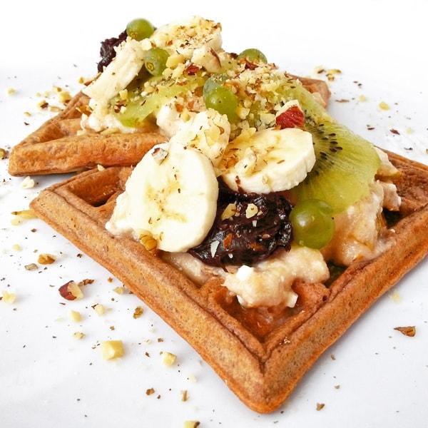 Fitness tvarohové čokoládové vafle - zdravý recept Bajola