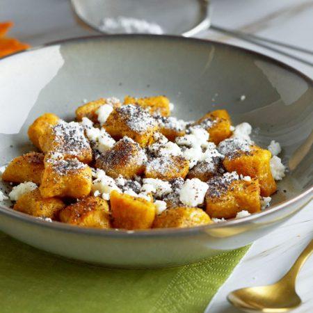 Fitness dýňové bramborové noky s mákem - recept Bajola
