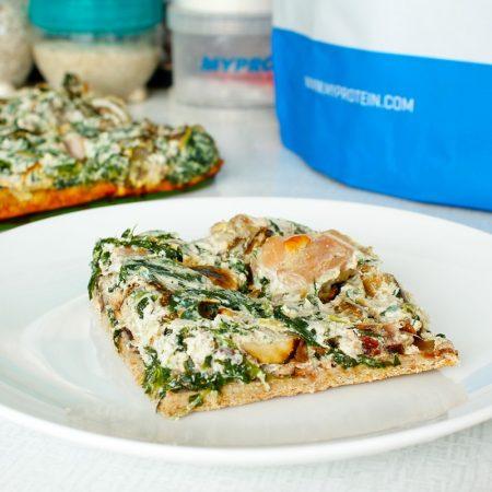 Fitness špenátovo-houbový pizza koláče - recept Bajola