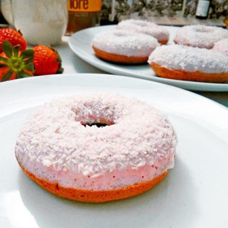 Fitness jahodové donuty recept Bajola