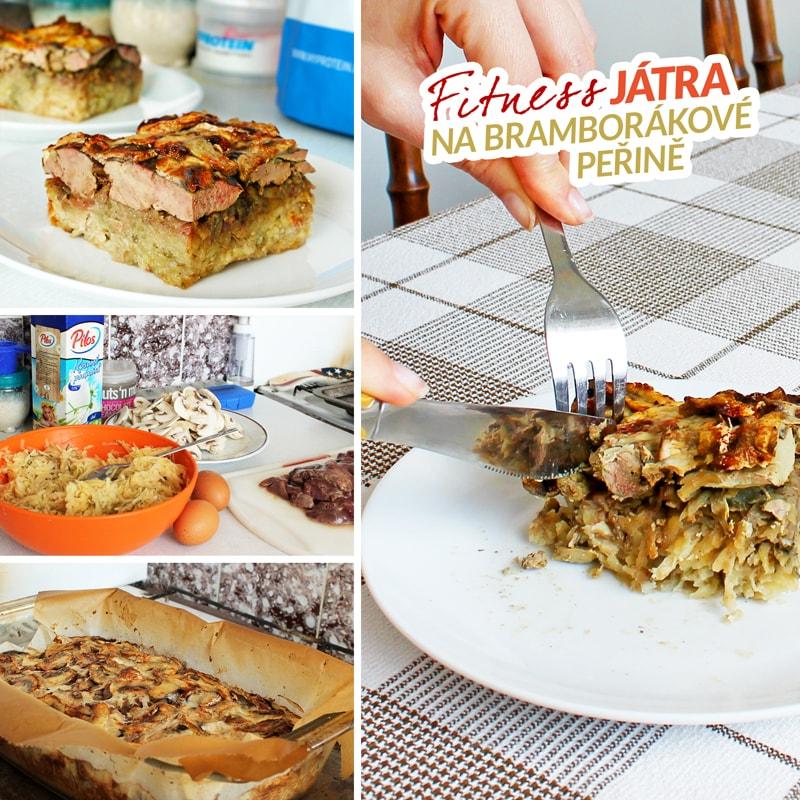 Fitness játra na bramborákové peřině - recept Bajola
