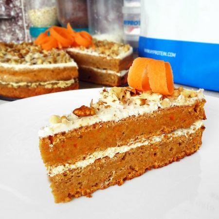 Fitness mrkvový dort zdravý recept Bajola