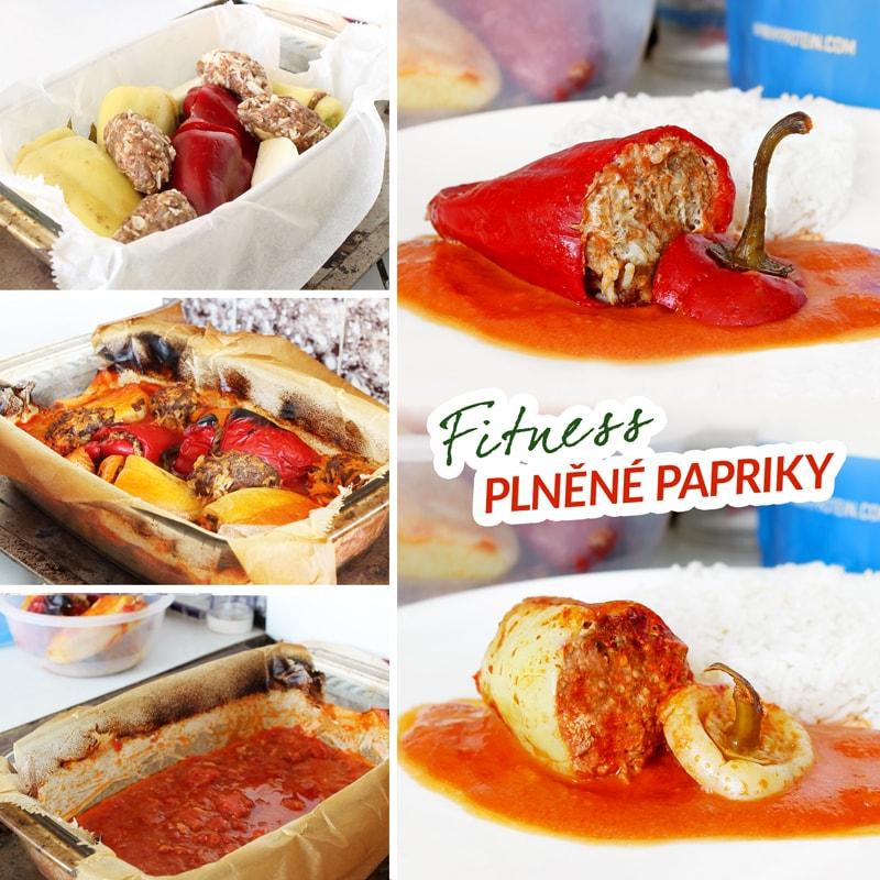 Fitness plněné papriky - zdravý recept Bajola