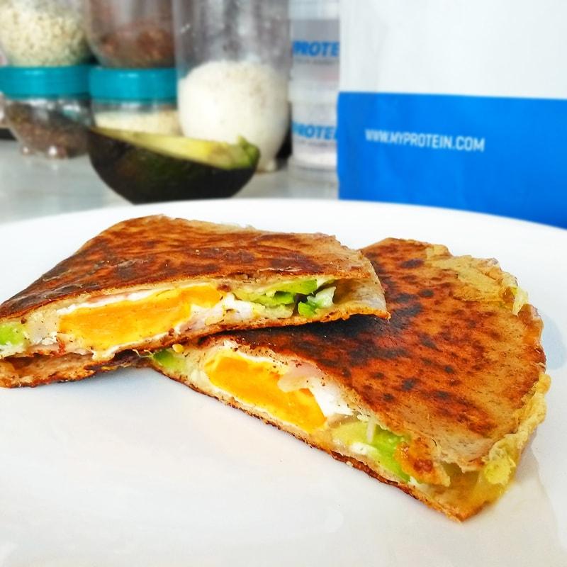 Fitness quesadilla zdravý recept Bajola