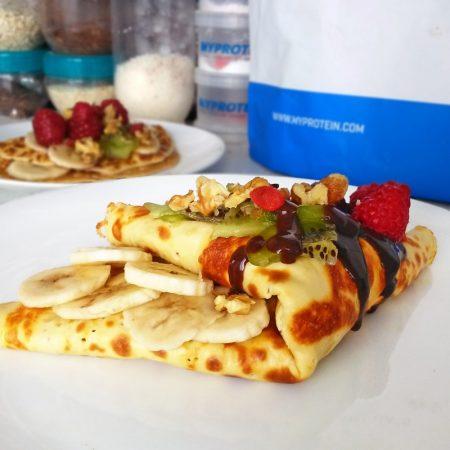 Fitness tvarohová palačinka - fitness recept Bajola