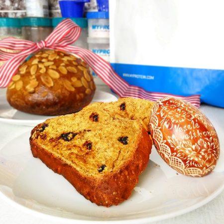 Fitness velikonoční mazanec zdravý recept Bajola