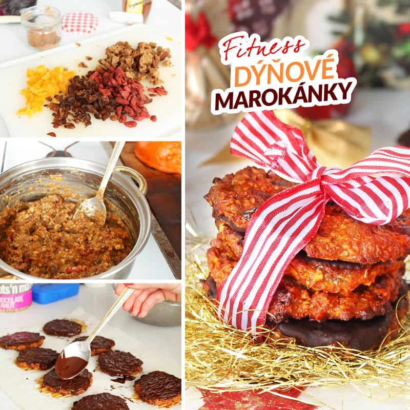 Fitness zdravé marokánky - vánoční cukroví - recept Bajola