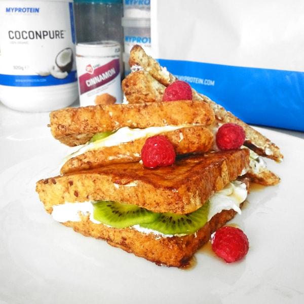 Fitness francouzské toasty - zdravý recept Bajola