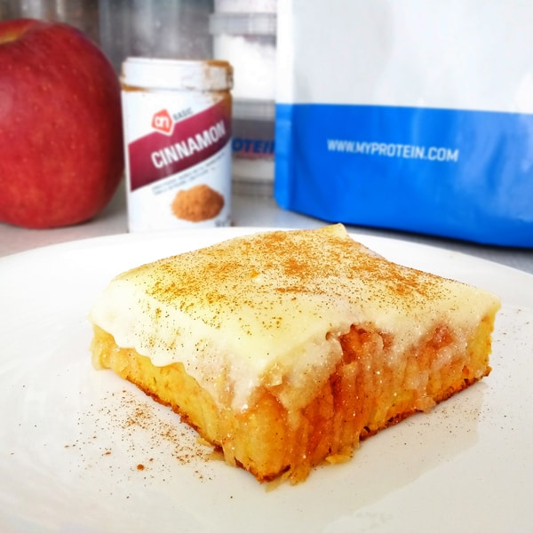 Fitness jablečný kremšnit zdravý recept Bajola