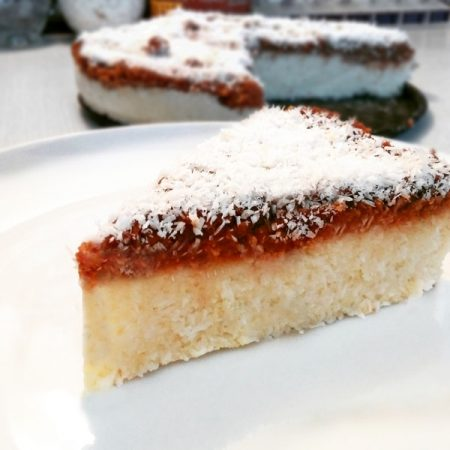 Kokosový dort - fitness zdravý recept Bajola