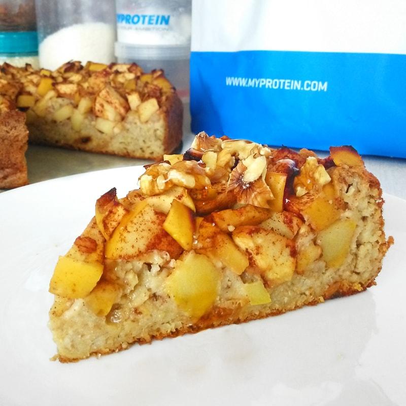 Fitness jablkový koláč z ovesných vloček - zdravý recept Bajola