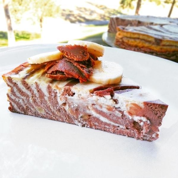 Fitness zebra tvarohový cheesecake - zdravý recept Bajola