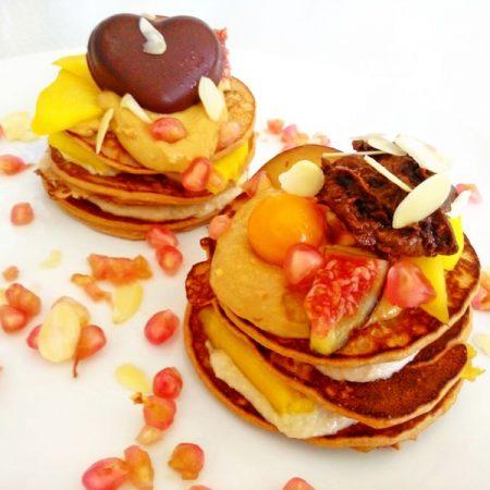 Fitness valentýnské lívance zdravý recept Bajola