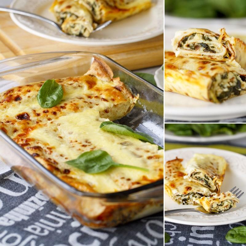 Zdravé špenátové palačinky se sýrem - recept Bajola