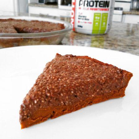 Fitness chia koláč čokoládový recept Bajola s proteinem