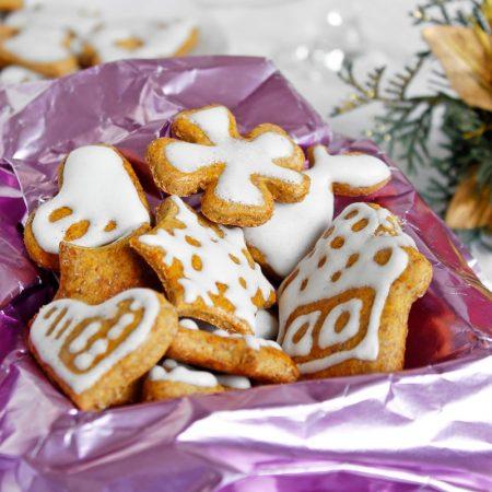 Fitness zdravé dýňové perníčky - vánoční cukroví recept Bajola