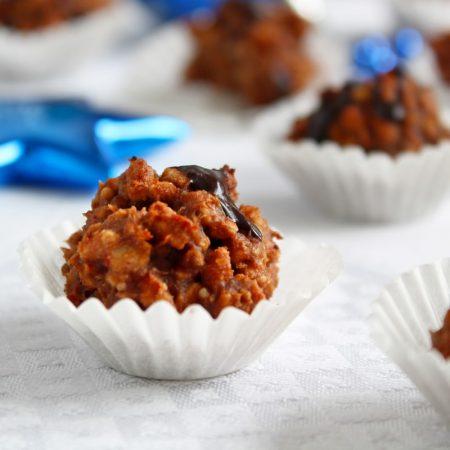 Fitness karamelovo arašídové hrudky recept Bajola