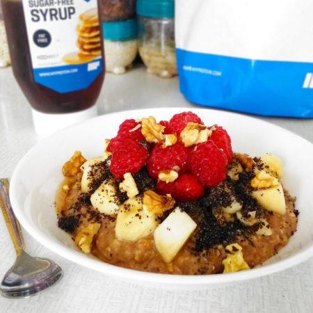 Fitness ovesná proteinová kaše - zdravý recept Bajola