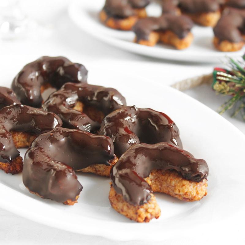 Fitness pařížské rohlíčky vánoční cukroví recept Bajola