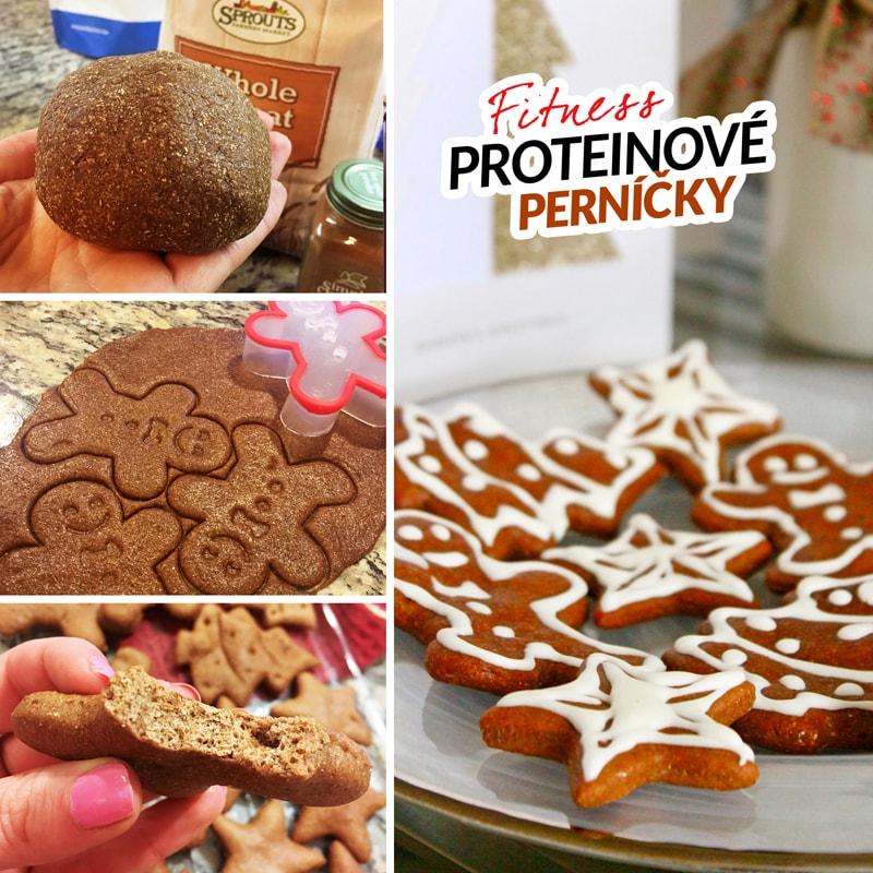 Fitness proteinové perníčky vánoční cukroví recept Bajola