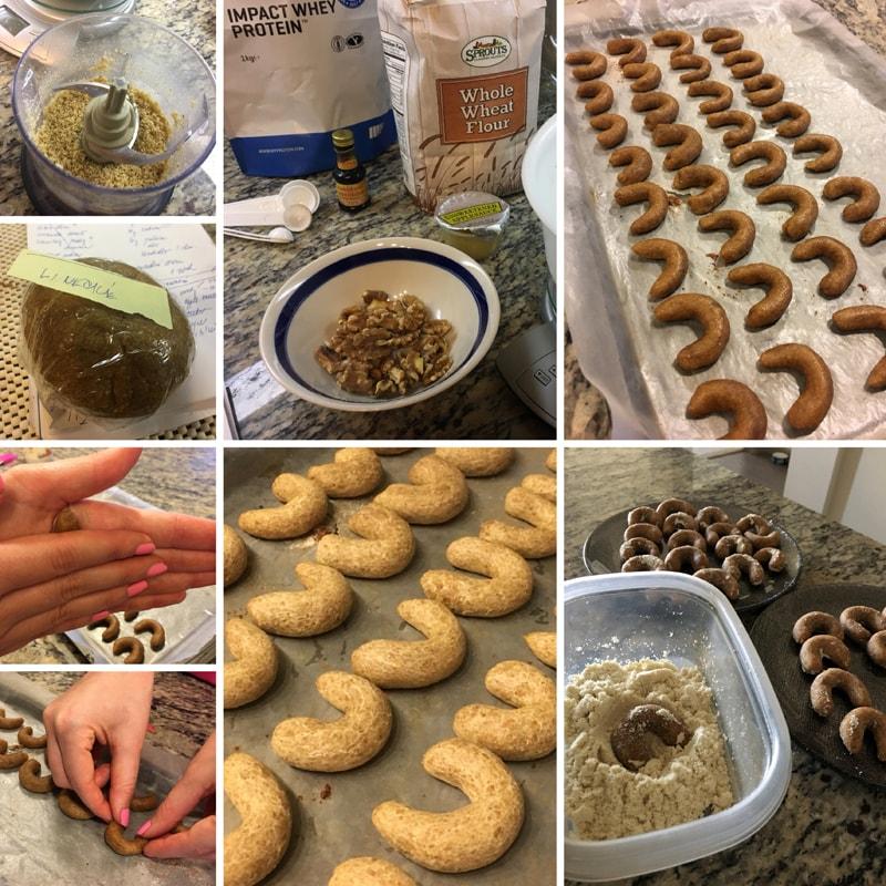 Fitness proteinové rohlíčky - vánoční recept Bajola