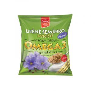 Přírodní mleté lněné semínko Semix zelený obal