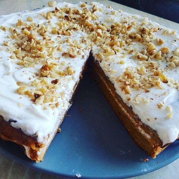 Fitness mrkvový dort