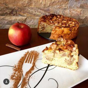 Fitness jablečný koláč