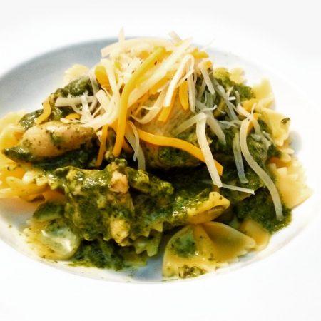 Fitness farfalle se špenátem - zdravý recept Bajola