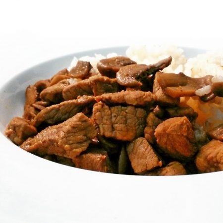 Fitness hovězí maso na houbách - zdravý recept Bajola