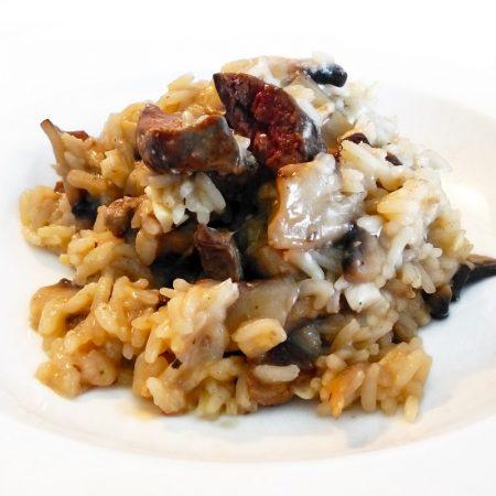 Fitness krémové houbové rizoto s játry - zdravý recept Bajola